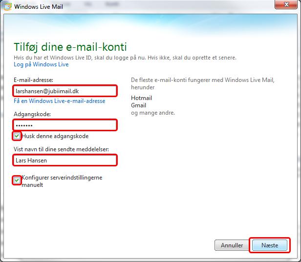 Windows Live Mail – Jubii Support